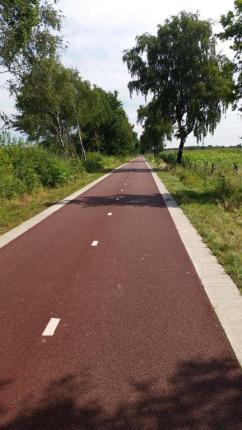 Eine Straße auf der Radverkehr Vorrang hat