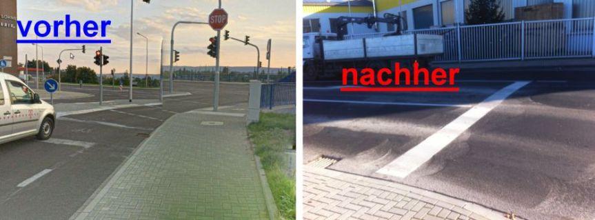 Schildbürgerstreich Brückenstraße
